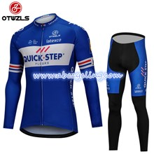 2018 QUICK STEP Cycling Jersey Long Sleeve and Cycling Pants Cycling Kits S