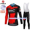 2018 BMC Thermal Fleece Cycling Jersey Long Sleeve Ropa Ciclismo Winter and Cycling bib Pants ropa ciclismo thermal ciclismo jersey thermal S