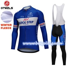 2018 QUICK STEP Thermal Fleece Cycling Jersey Long Sleeve Ropa Ciclismo Winter and Cycling bib Pants ropa ciclismo thermal ciclismo jersey thermal S