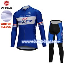 2018 QUICK STEP Thermal Fleece Cycling Jersey Ropa Ciclismo Winter Long Sleeve and Cycling Pants ropa ciclismo thermal ciclismo jersey thermal S