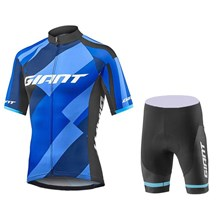 2018 Giant Elevate Cycling Jersey Maillot Ciclismo Short Sleeve and Cycling bib Shorts Cycling Kits Strap cycle jerseys Ciclismo bicicletas XS