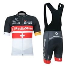 2012 radioshack black red white Cycling Jersey Short Sleeve and Cycling bib Shorts Cycling Kits Strap
