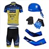 2013 saxo bank  Cycling Jersey+Shorts+Scarf Cap+gloves+Arm sleeve S