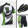 2013 SHANDIAN black  Cycling Jersey+Shorts+Gloves S