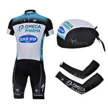 2013 quick-step Cycling Jersey+Shorts+Scarf+Arm sleeves