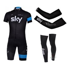 2013 sky Cycling Jersey+Shorts+Arm sleeves+Leg sleeves