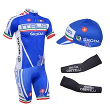 2013 castelli Cycling Jersey+Shorts+Cap+Arm sleeves