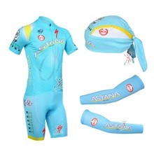 2013 astana Cycling Jersey+Shorts+Scarf+Arm sleeves