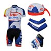 2013 lotto Cycling Jersey+Shorts+Scarf+Arm sleeves+Gloves S