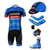 2013 garmin Cycling Jersey+Shorts+Cap+Arm sleeves+Gloves+Shoe Covers S