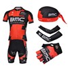 2013 bmc Cycling Jersey+Shorts+Scarf+Arm sleeves+Gloves S