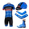2013 garmin Cycling Jersey+bib Shorts+Cap+Arm sleeves+Shoes covers S