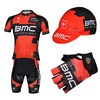 2013 bmc Cycling Jersey+bib Shorts+Cap+Gloves S