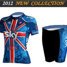 2012 ringwise women's sky Cycling Jersey Short Sleeve and Cycling Shorts Cycling Kits