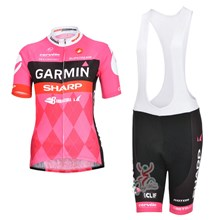 2013 Garmin Women Cycling Jersey Short Sleeve and Cycling bib Shorts Cycling Kits Strap