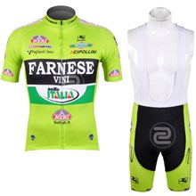 2012 FARNESE Cycling Jersey Short Sleeve and Cycling bib Shorts Cycling Kits Strap