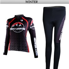 2012 women rocky Thermal Fleece Cycling Jersey Long Sleeve and Cycling Pants