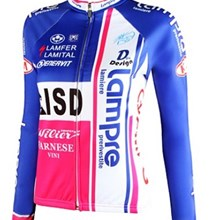 2012 women Lampre Thermal Fleece Cycling Jersey Long Sleeve Only Cycling Clothing