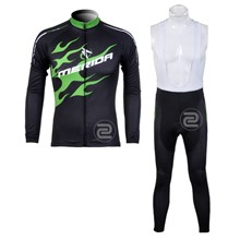 2012 Merida Cycling Jersey Long Sleeve and Cycling bib Pants Cycling Kits Strap