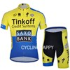 2014 SAXO BANK Cycling Jersey Short Sleeve and Cycling Shorts Cycling Kits S