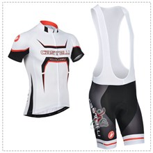 2014 castelli  Cycling Jersey Short Sleeve and Cycling bib Shorts Cycling Kits Strap