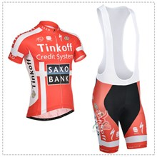 2014 saxobank  Cycling Jersey Short Sleeve and Cycling bib Shorts Cycling Kits Strap