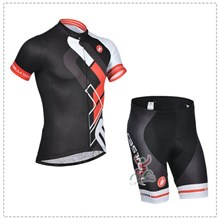 2014 castelli  Cycling Black Jersey Short Sleeve and Cycling Shorts Cycling Kits