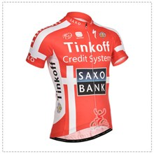 2014 saxobank  Cycling Jersey Short Sleeve Only Cycling Clothing