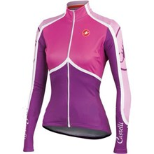 2014  Women CASTELLI Pink Thermal Fleece Cycling Jersey Long Sleeve Only Cycling Clothing