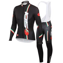 2014 SIDI Thermal Fleece Cycling Jersey Long Sleeve and Cycling bib Pants
