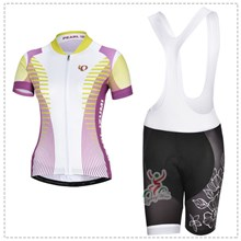 2014 Women pearl izumi Cycling Jersey Short Sleeve and Cycling bib Shorts Cycling Kits Strap