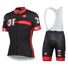 2014 3T Cervelo Cycling Jersey Short Sleeve and Cycling bib Shorts Cycling Kits Strap