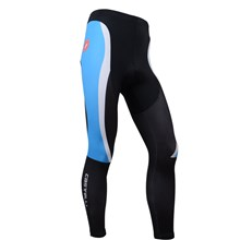 2014 CASTELLI Blue White Thermal Fleece Cycling Pants Only Cycling Clothing