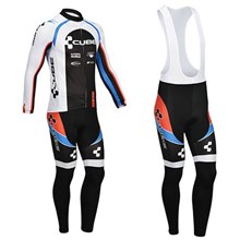 2013 CUBE Thermal Fleece Cycling Jersey Long Sleeve and Cycling bib Pants