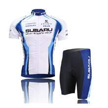 2014 Subaru Cycling Jersey Short Sleeve and Cycling Shorts Cycling Kits