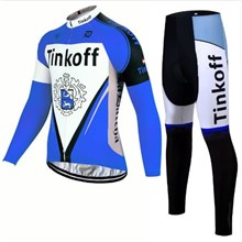 2017 Tinkoff blue Cycling Jersey Long Sleeve and Cycling Pants Cycling Kits