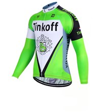 2017 Tinkoff fluorescent green Cycling Jersey Long Sleeve Only Cycling Clothing cycle jerseys Ropa Ciclismo bicicletas maillot ciclismo