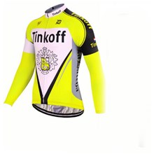 2017 Tinkoff yellow Cycling Jersey Long Sleeve Only Cycling Clothing cycle jerseys Ropa Ciclismo bicicletas maillot ciclismo