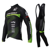 2016 Cannondale Cycling Jersey Long Sleeve and Cycling bib Pants Cycling Kits Strap