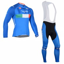 2016 Tagetik ITALIA Castelli Cycling Jersey Long Sleeve and Cycling bib Pants Cycling Kits Strap