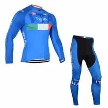 2016 Tagetik ITALIA Castelli Cycling Jersey Long Sleeve and Cycling Pants Cycling Kits
