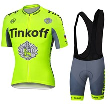 2016 Tinkoff saxo bank Fluo Yellow Cycling Jersey Maillot Ciclismo Short Sleeve and Cycling bib Shorts Cycling Kits Strap cycle jerseys Ciclismo bicicletas