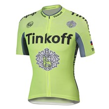 2016 Tinkoff saxo bank Fluo Light Green Cycling Jersey Ropa Ciclismo Short Sleeve Only Cycling Clothing cycle jerseys Ciclismo bicicletas maillot ciclismo