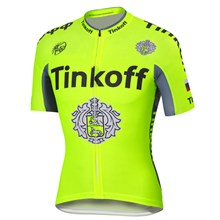 2016 Tinkoff saxo bank Fluo Yellow Cycling Jersey Ropa Ciclismo Short Sleeve Only Cycling Clothing cycle jerseys Ciclismo bicicletas maillot ciclismo
