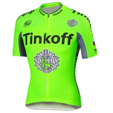 2016 Tinkoff saxo bank Fluo Green Cycling Jersey Ropa Ciclismo Short Sleeve Only Cycling Clothing cycle jerseys Ciclismo bicicletas maillot ciclismo