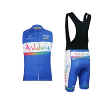 2015 ANDALUCIA Cycling Maillot Ciclismo Vest Sleeveless and Cycling Bib Shorts Cycling Kits cycle jerseys Ciclismo bicicletas