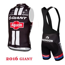 2016 Giant Cycling Maillot Ciclismo Vest Sleeveless and Cycling Bib Shorts Cycling Kits cycle jerseys Ciclismo bicicletas