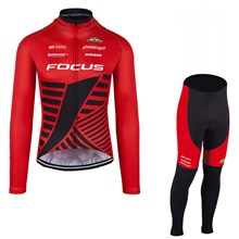 2017 FOCUS XC RED Cycling Jersey Long Sleeve and Cycling Pants Cycling Kits
