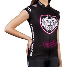 2016 Women RockRacing Black-Pink Cycling Vest Jersey Sleeveless Ropa Ciclismo Only Cycling Clothing cycle jerseys Ciclismo bicicletas maillot ciclismo cycle jerseys