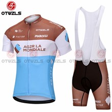 2018 AG2R Cycling Jersey Maillot Ciclismo Short Sleeve and Cycling bib Shorts Cycling Kits Strap cycle jerseys Ciclismo bicicletas